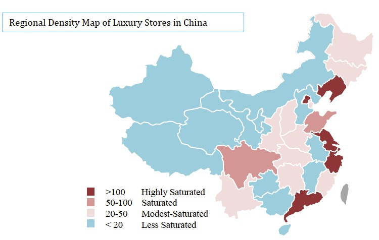 Regional Density Map of Luxury Stores in China