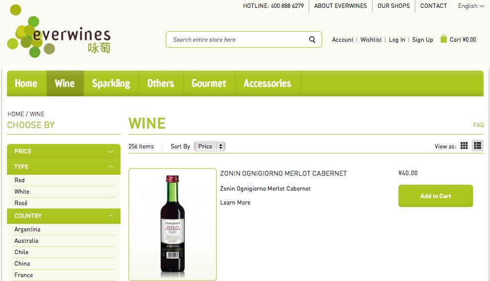 everwines website