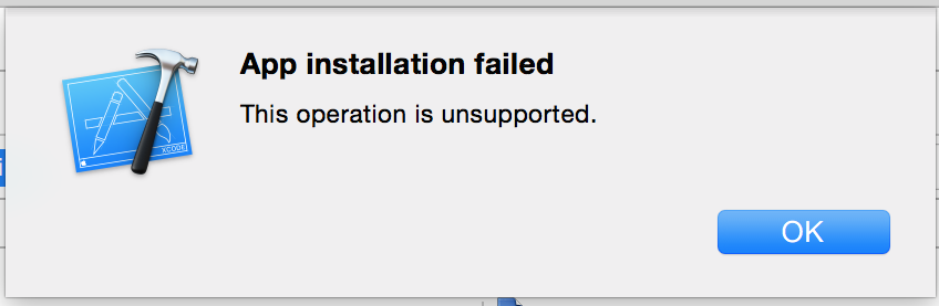app installation failed