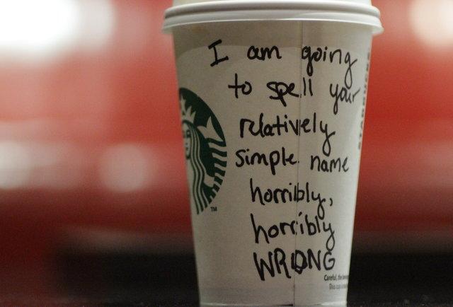 Starbucks wrong name