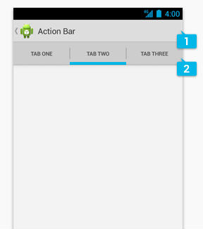action bar android
