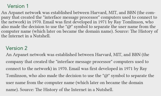 Whitespace readability comparison