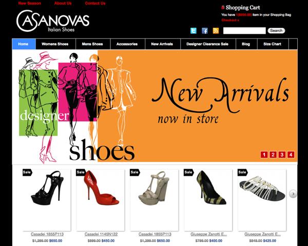 orange eCommerce web design