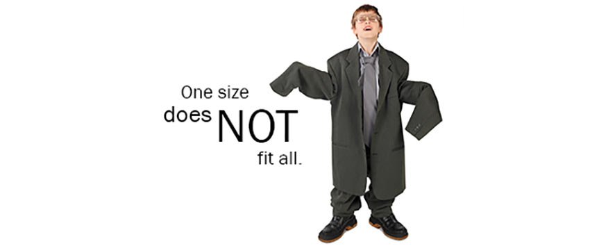 one-size-fits-all