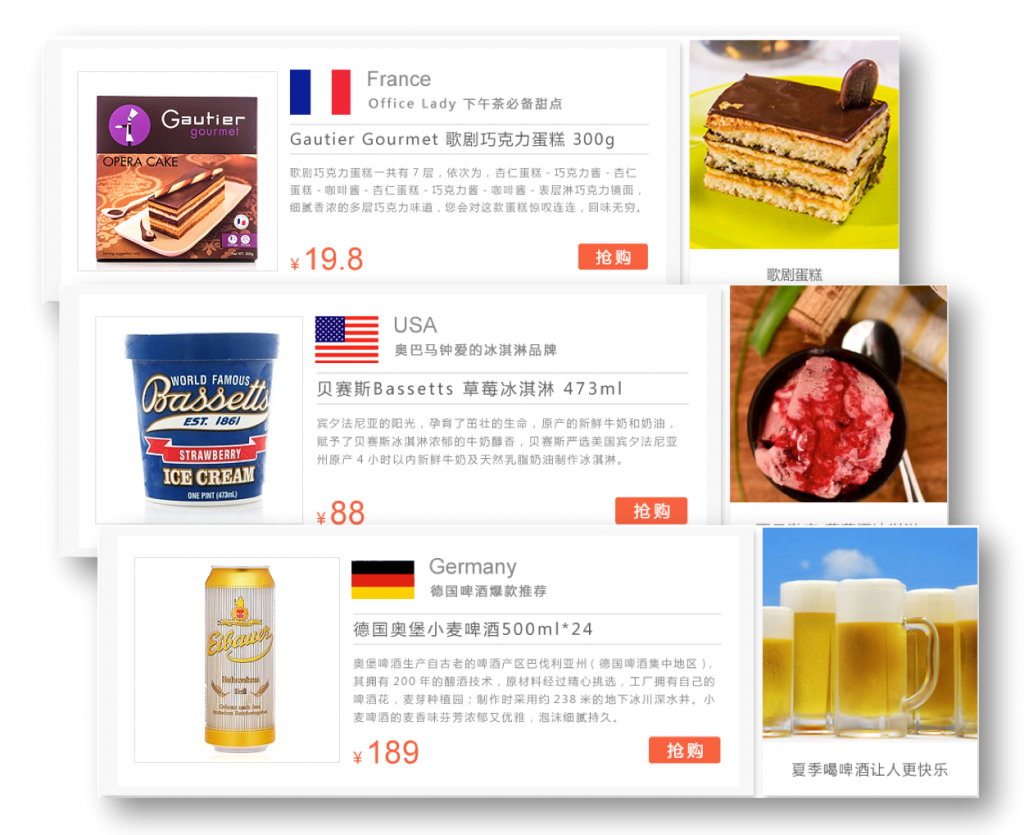 grocery business to China cross border eCommerce