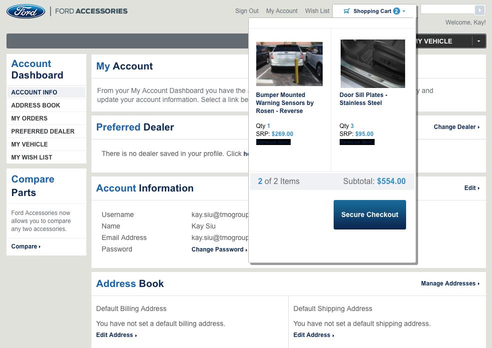 ford-b2b-eCommerce-account