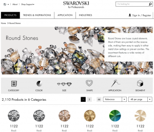 How Swarovski and other brands make their B2B eCommerce websites?