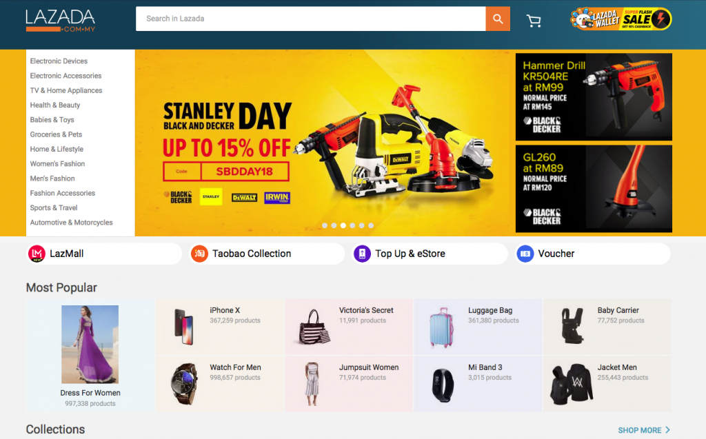 southeast asia online marketplaces lazada