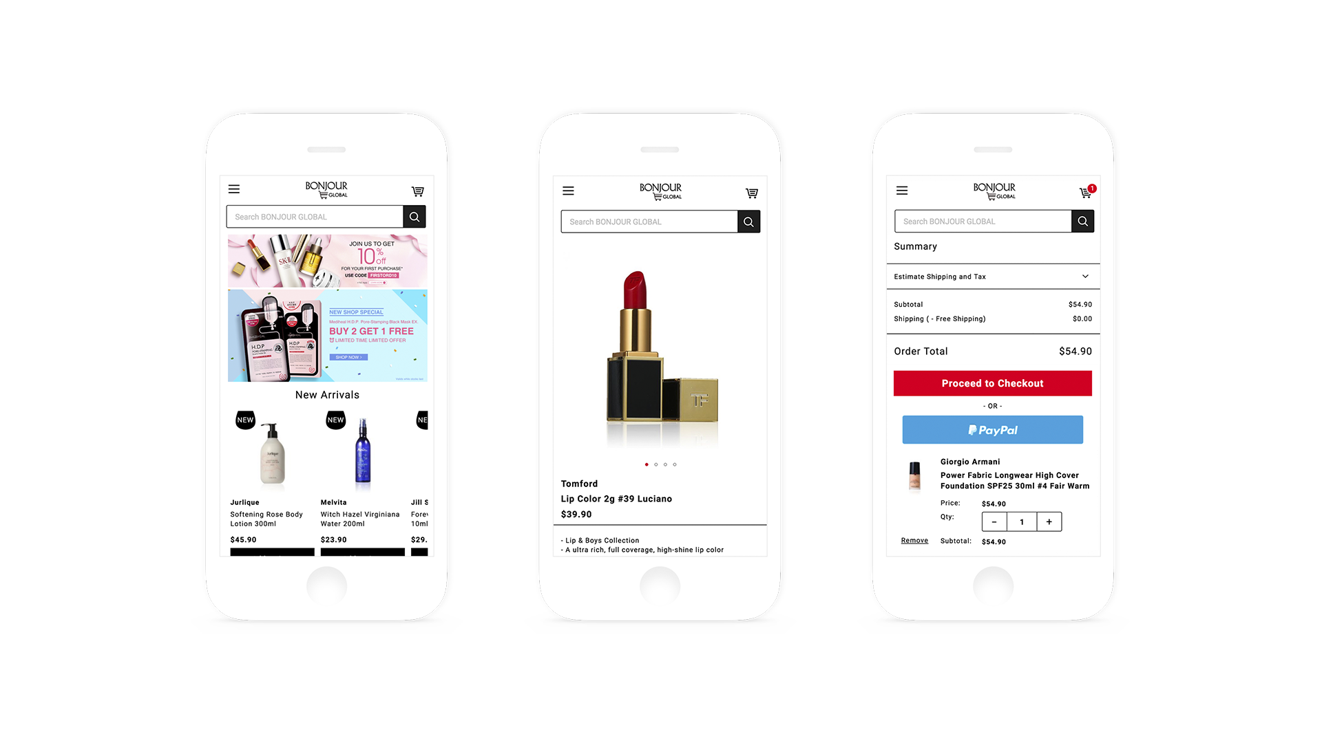 eCommerce website development-Mobile Responsive Design-BONJOUR GLOBAL