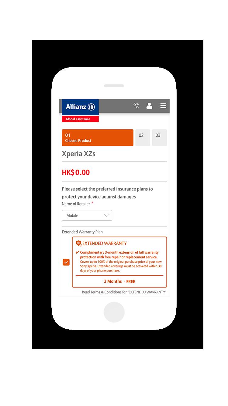 eCommerce Store Development-Mobile Responsive Design-Mobile-ALLIANZ SONY