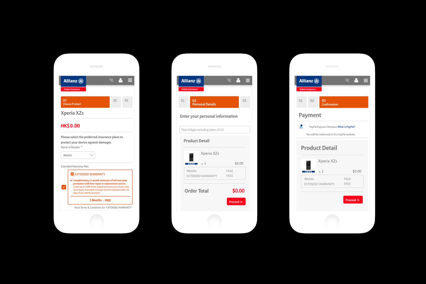eCommerce Store Development-Mobile Responsive Design-ALLIANZ SONY