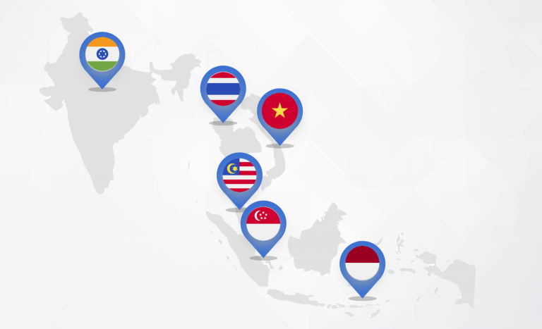 southeast asia cross-border ecommerce - map