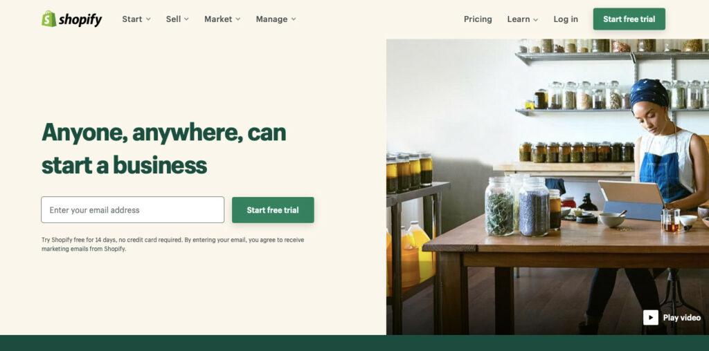 Shopify platform