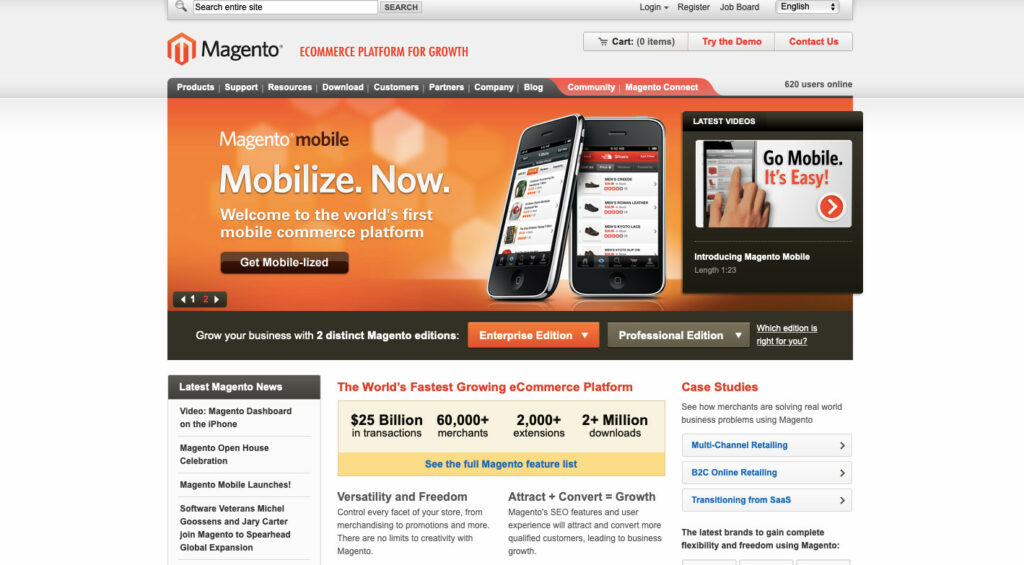 Magento in 2010. Pioneers of Mobile eCommerce