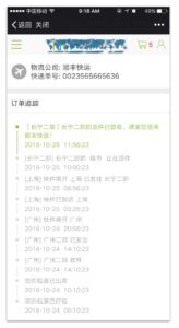 Delivery Status tracking in Magento China localization